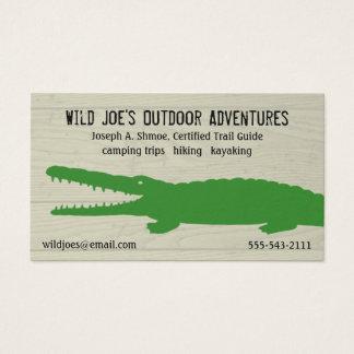 Green Crocodile Business Card