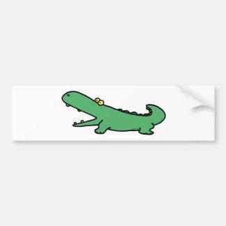 Green crocodile car bumper sticker