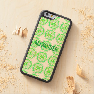 Green Crop Circle Paranormal UFO Art Carved® Maple iPhone 6 Bumper