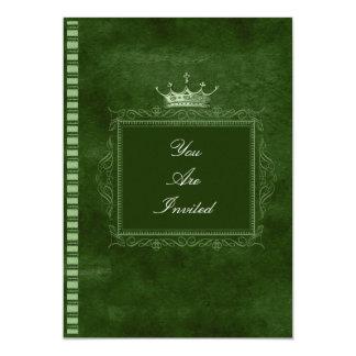 Green Crown Wedding Invitations
