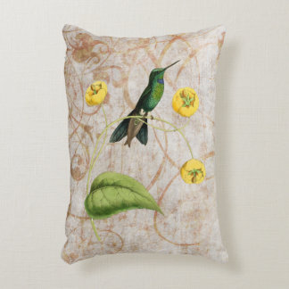 Green Crowned Brilliant Hummingbird Accent Pillow
