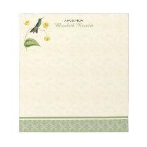 Green Crowned Brilliant Hummingbird Notepad