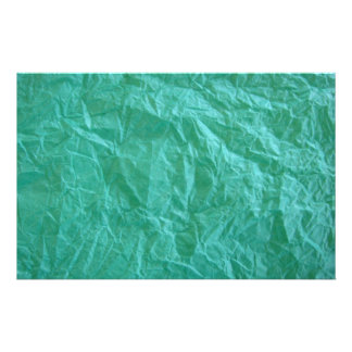 Green Crumpled Paper Stationery