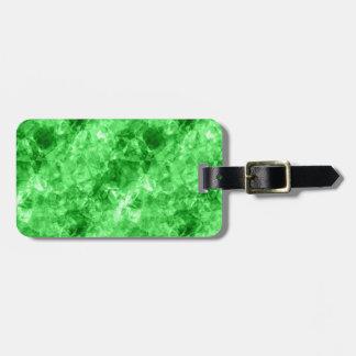 Green Crumpled Texture Bag Tag