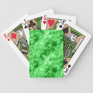 Green Crumpled Texture Bicycle Playing Cards