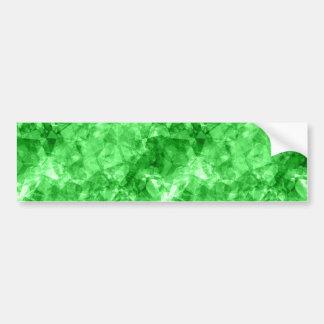 Green Crumpled Texture Bumper Sticker