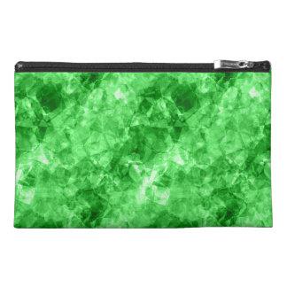Green Crumpled Texture Travel Accessory Bag