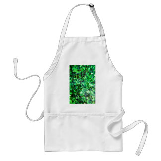 Green Crystal Design Adult Apron