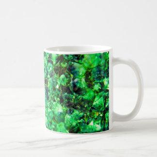 Green Crystal Design Coffee Mug