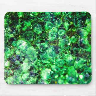 Green Crystal Design Mouse Pad
