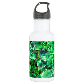 Green Crystal Design Stainless Steel Water Bottle