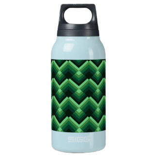 green crystal zig zag pattern insulated water bottle