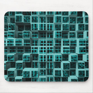 Green Cubes Abstract Mouse Pad