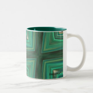 Green Cubes, baxiemur* Two-Tone Coffee Mug