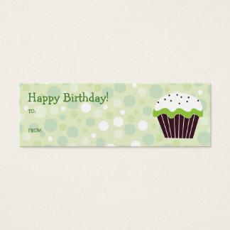 Green Cupcake Gift Tag