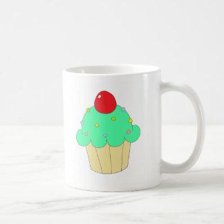 Green Cupcake Coffee Mugs