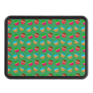Green cupcake pattern trailer hitch cover