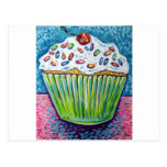 GREEN CUPCAKE POST CARDS