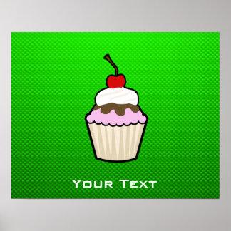 Green Cupcake Print