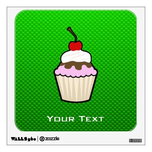 Green Cupcake Wall Sticker