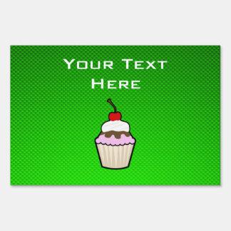 Green Cupcake Lawn Sign