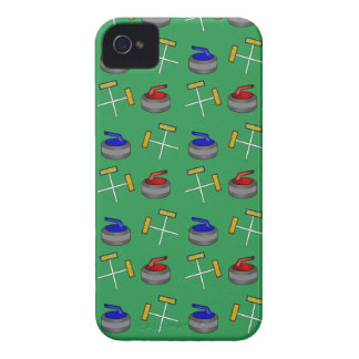 green curling pattern iPhone 4 cases