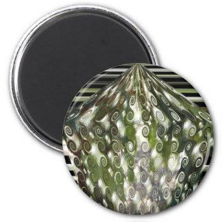 Green Curls Magnet