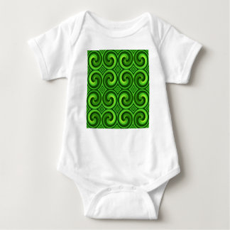 Green Curly pattern Baby Bodysuit