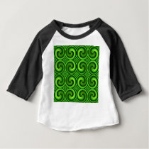 Green Curly pattern Baby T-Shirt