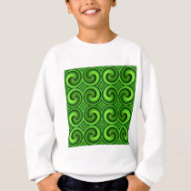 Green Curly pattern Sweatshirt