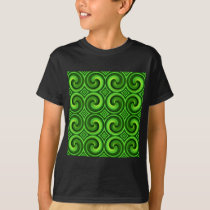 Green Curly pattern T-Shirt
