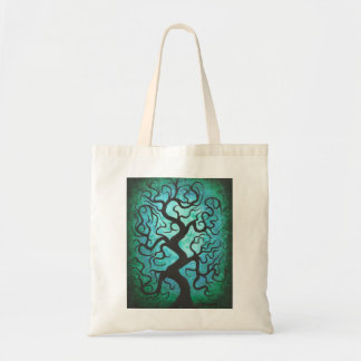 Green curly tree, bag