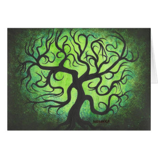 Green curly tree - Card