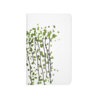 Green Curtain Pocket Journal