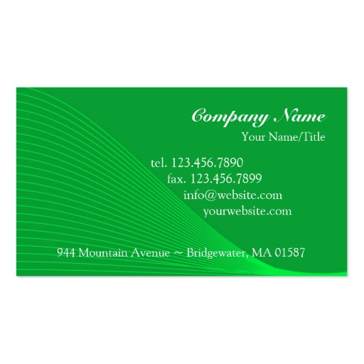 Green Curve Lines Business Card