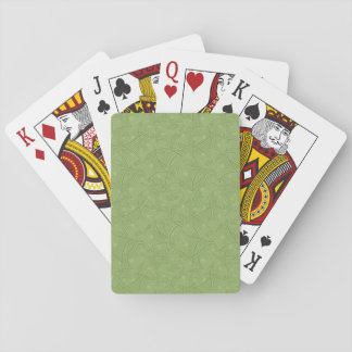 Green curved shape pattern deck of cards