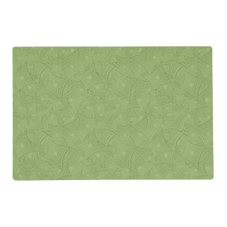 Green curved shape pattern placemat