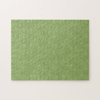 Green curved shape pattern jigsaw puzzle