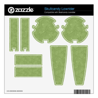 Green curved shape pattern skullcandy decals