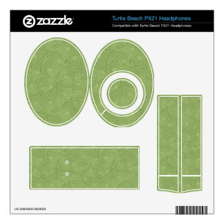 Green curved shape pattern turtle beach px21 skins
