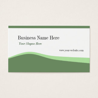 Green Curves Business Card