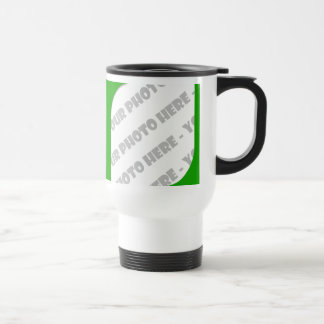 Green Curves Photo Travel Mug - Create Your Own