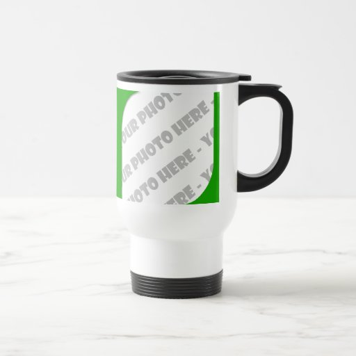 Green Curves Photo Travel Mug Create Your Own Zazzle