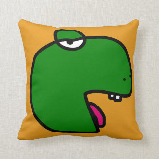 Green cushion déco dino and melts orange,