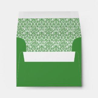 Green Custom Envelope w/ Address - Printed Inside Envelopes