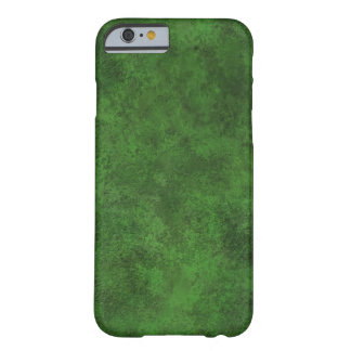 Green Custom Grunge Leather Texture Barely There iPhone 6 Case