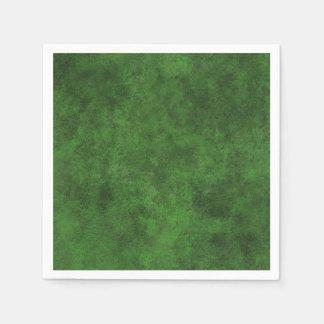 Green Custom Grunge Leather Texture Standard Cocktail Napkin