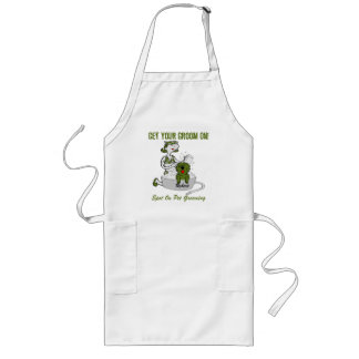 Green Custom Name Get Your Groom On Long Apron