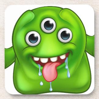 Green Cute Alien Monster Drink Coaster