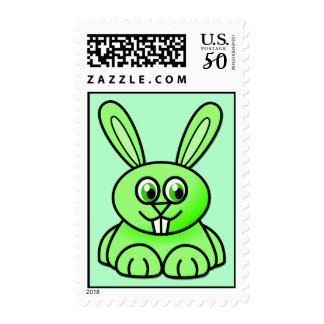 {Green} Cute Bunny Postage